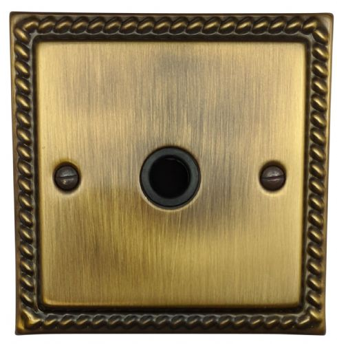 G&H MAB79B Monarch Roped Antique Bronze 1 Gang Flex Outlet Plate